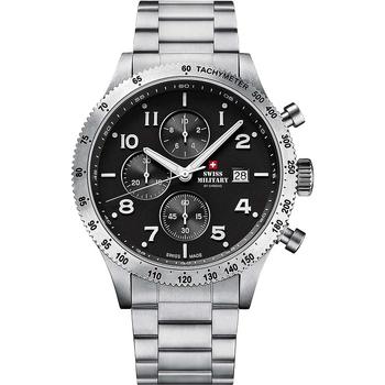 Ceasuri & Bijuterii Bărbați Ceasuri Analogice Swiss Military By Chrono SM34084.01, Quartz, 42mm, 10ATM Argintiu