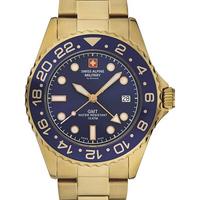 Ceasuri & Bijuterii Bărbați Ceasuri Analogice Swiss Alpine Military 7052.1115, Quartz, 42mm, 10ATM Auriu