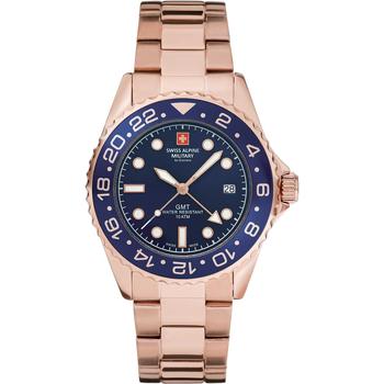 Ceasuri & Bijuterii Bărbați Ceasuri Analogice Swiss Alpine Military 7052.1165, Quartz, 42mm, 10ATM Auriu