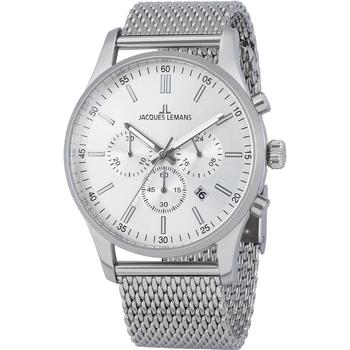 Ceasuri & Bijuterii Bărbați Ceasuri Analogice Jacques Lemans 1-2025G, Quartz, 42mm, 10ATM Argintiu