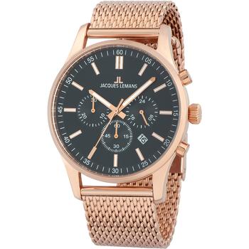 Ceasuri & Bijuterii Bărbați Ceasuri Analogice Jacques Lemans 1-2025I, Quartz, 42mm, 10ATM Auriu
