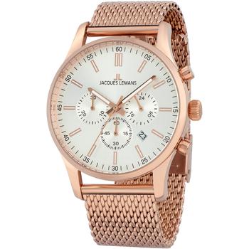 Ceasuri & Bijuterii Bărbați Ceasuri Analogice Jacques Lemans 1-2025J, Quartz, 42mm, 10ATM Auriu