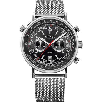Ceasuri & Bijuterii Bărbați Ceasuri Analogice Rotary GB05235/04, Quartz, 42mm, 5ATM Argintiu