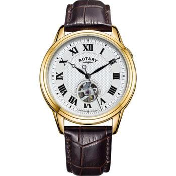 Ceasuri & Bijuterii Bărbați Ceasuri Analogice Rotary GS05368/70, Automatic, 40mm, 5ATM Auriu