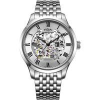 Ceasuri & Bijuterii Bărbați Ceasuri Analogice Rotary GB02940/06, Automatic, 42mm, 5ATM Argintiu