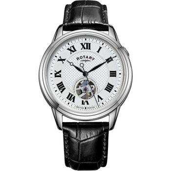 Ceasuri & Bijuterii Bărbați Ceasuri Analogice Rotary GS05365/70, Automatic, 40mm, 5ATM Argintiu