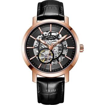 Ceasuri & Bijuterii Bărbați Ceasuri Analogice Rotary GS05354/04, Automatic, 42mm, 5ATM Auriu