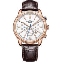 Ceasuri & Bijuterii Bărbați Ceasuri Analogice Rotary GS05084/06, Quartz, 40mm, 5ATM Auriu