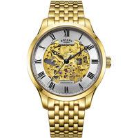 Ceasuri & Bijuterii Bărbați Ceasuri Analogice Rotary GB02941/03, Automatic, 42mm, 5ATM Auriu