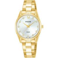 Ceasuri & Bijuterii Femei Ceasuri Analogice Pulsar PH8506X1, Quartz, 28mm, 10ATM Auriu