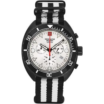 Ceasuri & Bijuterii Bărbați Ceasuri Analogice Swiss Alpine Military 7066.9672, Quartz, 44mm, 10ATM Negru