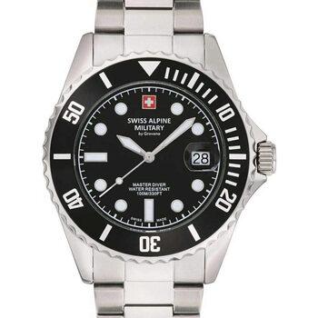 Ceasuri & Bijuterii Bărbați Ceasuri Analogice Swiss Alpine Military 7053.1137, Quartz, 42mm, 10ATM Argintiu