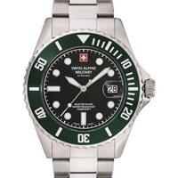 Ceasuri & Bijuterii Bărbați Ceasuri Analogice Swiss Alpine Military 7053.1133, Quartz, 42mm, 10ATM Argintiu