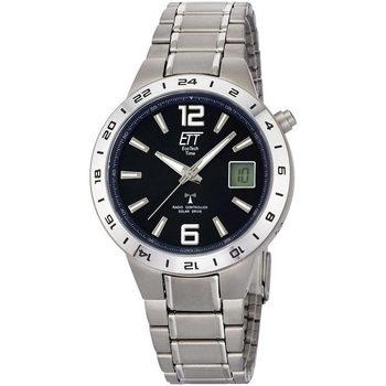 Ceasuri & Bijuterii Bărbați Cesuri Analogic- digital Ett Eco Tech Time EGT-11411-41M, Quartz, 40mm, 5ATM Argintiu