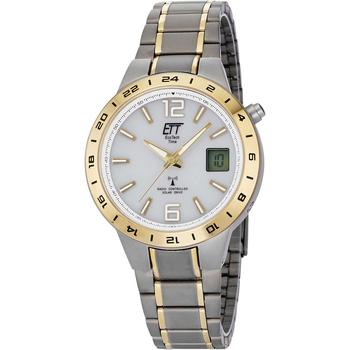 Ceasuri & Bijuterii Bărbați Cesuri Analogic- digital Ett Eco Tech Time EGT-11410-40M, Quartz, 40mm, 5ATM Argintiu