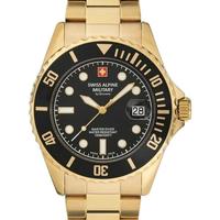 Ceasuri & Bijuterii Bărbați Ceasuri Analogice Swiss Alpine Military 7053.1117, Quartz, 42mm, 10ATM Auriu