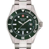 Ceasuri & Bijuterii Bărbați Ceasuri Analogice Swiss Alpine Military 7053.1134, Quartz, 42mm, 10ATM Argintiu
