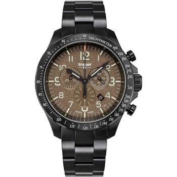 Ceasuri & Bijuterii Bărbați Ceasuri Analogice Traser H3 109460, Quartz, 46mm, 10ATM Negru