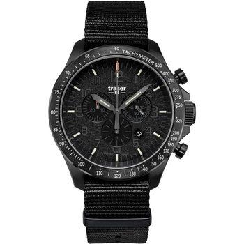 Ceasuri & Bijuterii Bărbați Ceasuri Analogice Traser H3 109465, Quartz, 46mm, 10ATM Negru