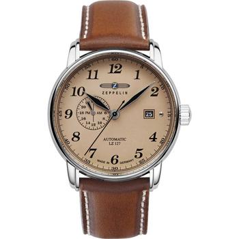 Ceasuri & Bijuterii Bărbați Ceasuri Analogice Zeppelin 8668-5, Automatic, 41mm, 5ATM Argintiu