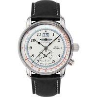 Ceasuri & Bijuterii Bărbați Ceasuri Analogice Zeppelin 8644-1, Quartz, 43mm, 5ATM Argintiu