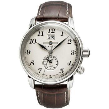 Ceasuri & Bijuterii Bărbați Ceasuri Analogice Zeppelin 7644-5, Quartz, 42mm, 5ATM Argintiu