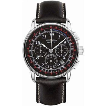 Ceasuri & Bijuterii Bărbați Ceasuri Analogice Zeppelin 7624-2, Automatic, 42mm, 5ATM Argintiu