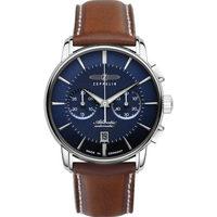 Ceasuri & Bijuterii Bărbați Ceasuri Analogice Zeppelin 8422-3, Automatic, 42mm, 5ATM Argintiu