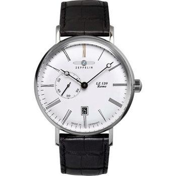 Ceasuri & Bijuterii Bărbați Ceasuri Analogice Zeppelin 7104-1, Automatic, 41mm, 5ATM Argintiu
