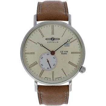 Ceasuri & Bijuterii Bărbați Ceasuri Analogice Zeppelin 7134-5, Quartz, 40mm, 5ATM Argintiu