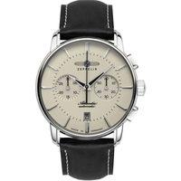 Ceasuri & Bijuterii Bărbați Ceasuri Analogice Zeppelin 8422-5, Automatic, 42mm, 5ATM Argintiu