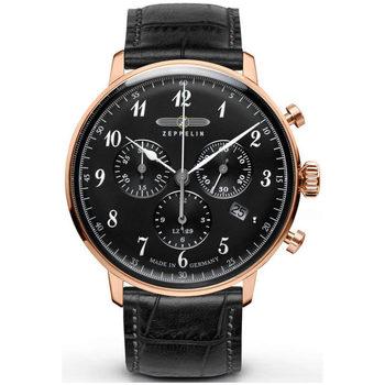 Ceasuri & Bijuterii Bărbați Ceasuri Analogice Zeppelin 7084-2, Quartz, 40mm, 3ATM Auriu