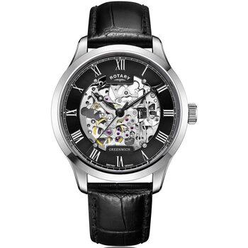 Ceasuri & Bijuterii Bărbați Ceasuri Analogice Rotary GS02940/30, Automatic, 42mm, 5ATM Argintiu