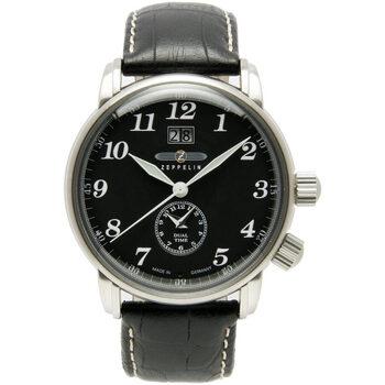 Ceasuri & Bijuterii Bărbați Ceasuri Analogice Zeppelin 7644-2, Quartz, 43mm, 5ATM Argintiu