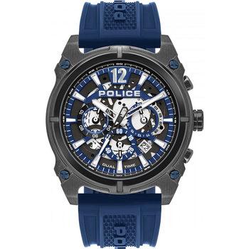 Ceasuri & Bijuterii Bărbați Ceasuri Analogice Police PL16020JSU.61P, Quartz, 45mm, 5ATM Negru