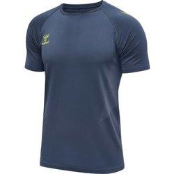 Îmbracaminte Bărbați Tricouri mânecă scurtă Hummel Maillot d'entrainement bleu/jaune
