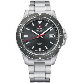 Ceasuri & Bijuterii Bărbați Ceasuri Analogice Swiss Military By Chrono SM34082.03, Quartz, 42mm, 5ATM Argintiu