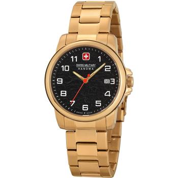 Ceasuri & Bijuterii Bărbați Ceasuri Analogice Swiss Military By Chrono 06-5231.7.02.007, Quartz, 39mm, 5ATM Auriu