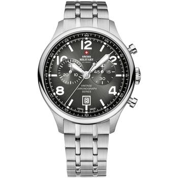 Ceasuri & Bijuterii Bărbați Ceasuri Analogice Swiss Military By Chrono SM30192.01, Quartz, 42mm, 10ATM Argintiu