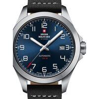 Ceasuri & Bijuterii Bărbați Ceasuri Analogice Swiss Military By Chrono SMA34077.02, Automatic, 42mm, 10ATM Argintiu