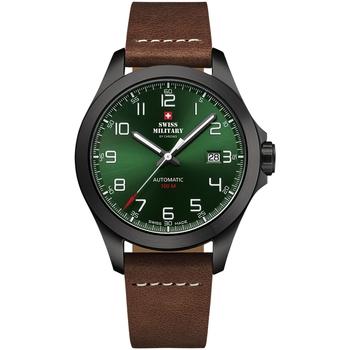 Ceasuri & Bijuterii Bărbați Ceasuri Analogice Swiss Military By Chrono SMA34077.06, Automatic, 42mm, 10ATM Negru