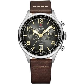 Ceasuri & Bijuterii Bărbați Ceasuri Analogice Swiss Military By Chrono SM30192.04, Quartz, 42mm, 10ATM Argintiu