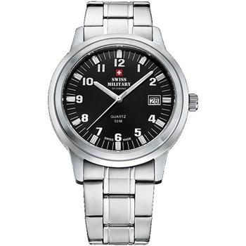 Ceasuri & Bijuterii Bărbați Ceasuri Analogice Swiss Military By Chrono SMP36004.06, Quartz, 40mm, 5ATM Argintiu