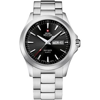 Ceasuri & Bijuterii Bărbați Ceasuri Analogice Swiss Military By Chrono SMP36040.22, Quartz, 42mm, 5ATM Argintiu
