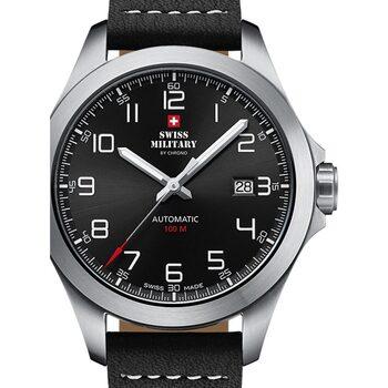 Ceasuri & Bijuterii Bărbați Ceasuri Analogice Swiss Military By Chrono SMA34077.01, Automatic, 42mm, 10ATM Argintiu
