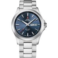 Ceasuri & Bijuterii Bărbați Ceasuri Analogice Swiss Military By Chrono SMP36040.24, Quartz, 42mm, 5ATM Argintiu