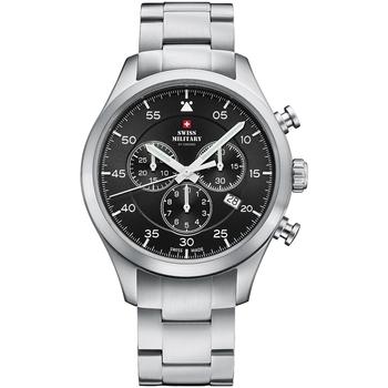 Ceasuri & Bijuterii Bărbați Ceasuri Analogice Swiss Military By Chrono SM34076.01, Quartz, 43mm, 10ATM Argintiu