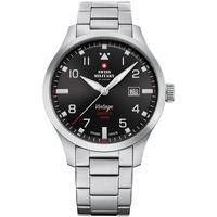 Ceasuri & Bijuterii Bărbați Ceasuri Analogice Swiss Military By Chrono SM34078.01, Quartz, 43mm, 10ATM Argintiu