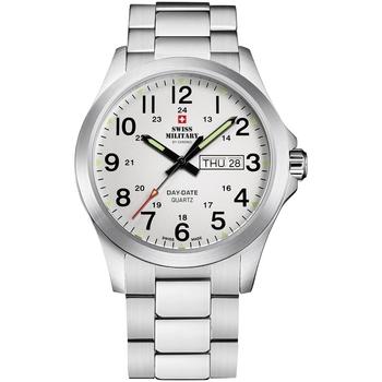 Ceasuri & Bijuterii Bărbați Ceasuri Analogice Swiss Military By Chrono SMP36040.26, Quartz, 42mm, 5ATM Argintiu