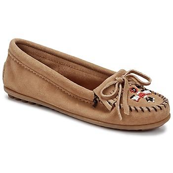 Pantofi Femei Mocasini Minnetonka THUNDERBIRD II Taupe